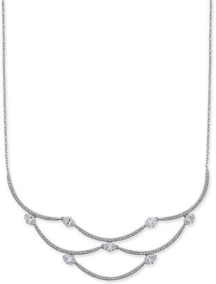 Danori Silver-Tone Pavé Crystal Collar Necklace $120 thestylecure.com