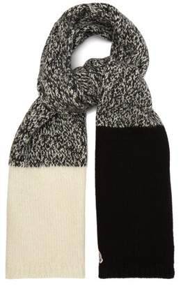Moncler Chunky Knit Scarf - Womens - Black