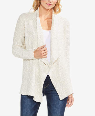 Vince Camuto Textured Open-Front Cardigan