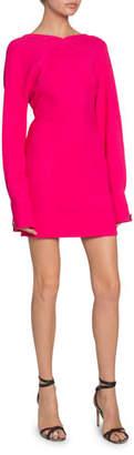 Victoria Beckham Open-Back Irregular Crepe Dress