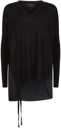 AllSaints Moira Drape Sweater