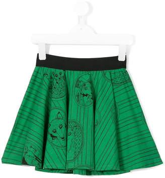 Mini Rodini fox print flared skirt