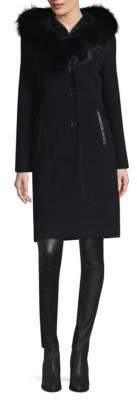 Mackage Fox Fur-Trim Hooded Coat