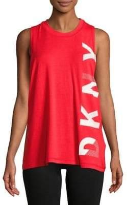 DKNY Oversized Logo Tank Top