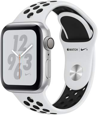 Apple AppleWatch Nike+ Series4 GPS, 40mm Silver Aluminum Case with Pure Platinum/Black Nike Sport Band