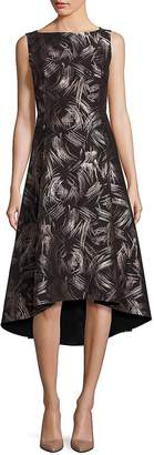 Lafayette 148 New York Women's Printed High-Low Dress