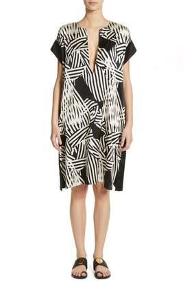 Zero Maria Cornejo Bow Print Silk Blend Dress