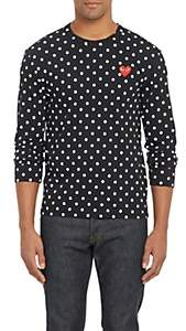 Comme des Garcons Men's Polka Dot Long-Sleeve T-shirt-Black