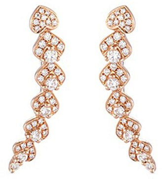 LC Collection Jewellery 'Lucky Charm' diamond 18k rose gold earrings