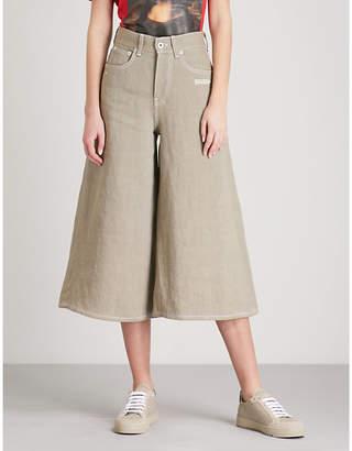 Off-White Juta wide-leg linen trousers