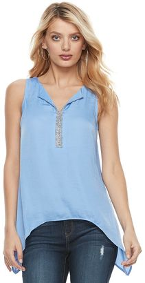 Women's Juicy Couture Embellished Handkerchief Tank $40 thestylecure.com