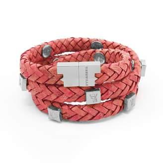 Brio Tissuville Bracelet Raspberry Silver