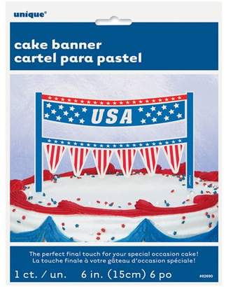 Unique Industries USA Patriotic Cake Bunting Topper