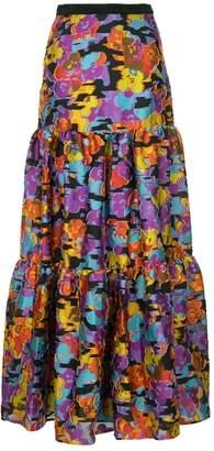 Mary Katrantzou floral flared maxi skirt