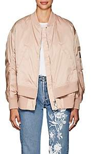 Moncler Women's Aralia Tech-Twill Down Bomber Jacket - Light, Pastel pink