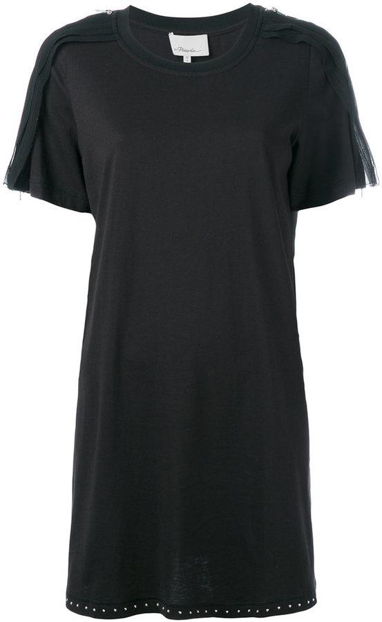 3.1 Phillip Lim3.1 Phillip Lim zip detail T-shirt dress