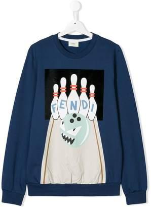 Fendi TEEN monster bowling sweatshirt