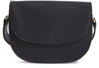 Sole Society Honor Faux Leather Messenger Bag - Black