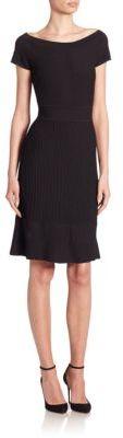 Armani Collezioni Cross Piping Knit Dress $795 thestylecure.com