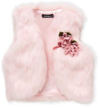 Kate Mack For Biscotti (Girls 4-6x) Pink Faux Fur Vest