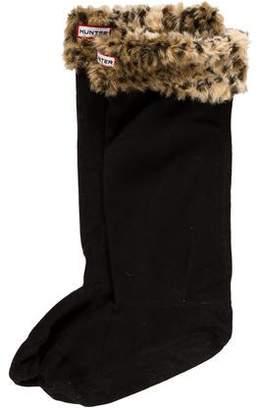 Hunter Fleece Cheetah Print Socks