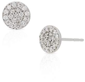 Bony Levy 18K White Gold Pave Diamond Round Stud Earrings - 0.35 ctw