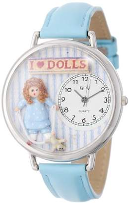 Whimsical Watches Unisex U0220001 Doll Lover Baby Blue Leather Watch