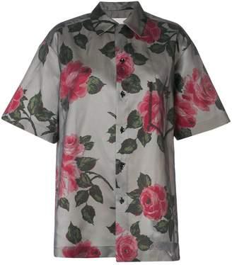 Maison Margiela oversized floral print shirt