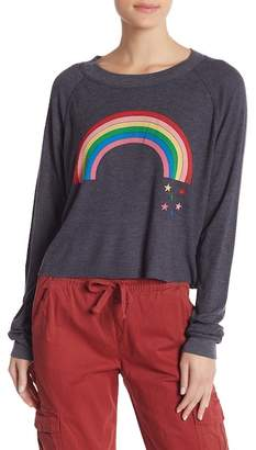 Wildfox Couture Rainbow Star Monte Crop Tee