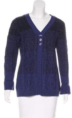 DKNY Long Sleeve Button-Up Cardigan
