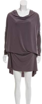 AllSaints Long Sleeve Cowl Dress