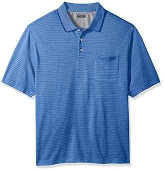 Van Heusen Big and Tall Flex Jacquard Short Sleeve Stripe Polo Shirt