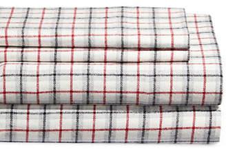 DISTINCTLY HOME Four-Piece Flannel Cabin Plaid Sheet Set