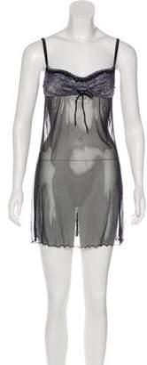 Dolce & Gabbana Sheer Lace Print Slip