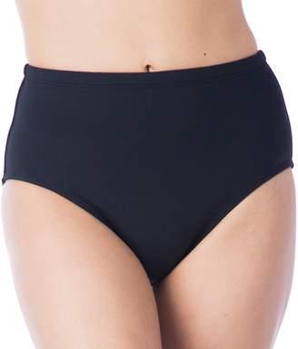 Chaps Women's High-Waisted Scoop Bikini Bottoms