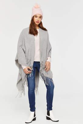 Ardene Soft Fringed BouclA Knit Open Poncho