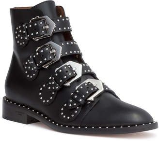 Givenchy Elegant flat black leather boot