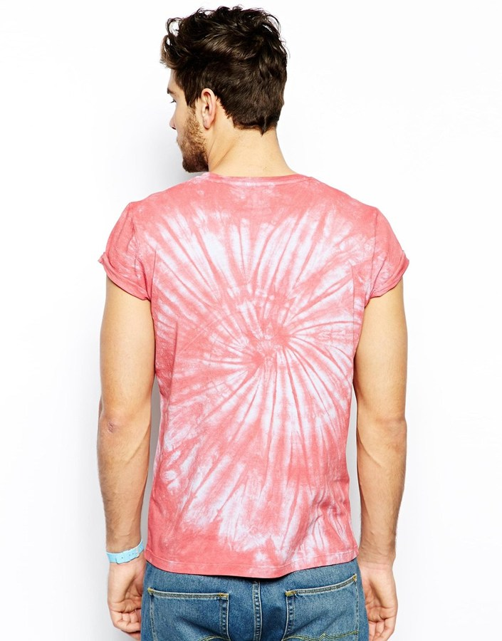 Asos T-Shirt With Varsity Print And Tie Dye