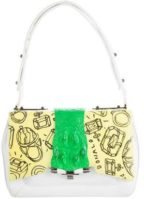 Kara Ross Crocodile-Accented Felix Bag