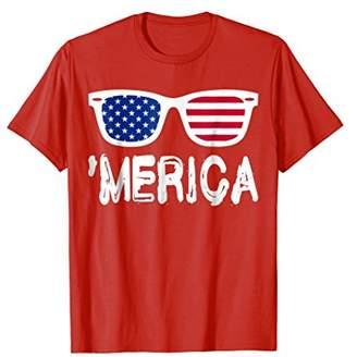 Merica Sunglasses TShirt Best Fourth of July Gift