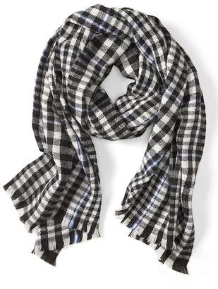 Banana Republic Cozy Checker Plaid Rectangular Scarf