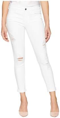 Bebe Heartbreaker Crop Skinny with Roll Cuff in White Women's Jeans