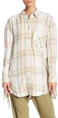 Free People Nordic Day Plaid Button Down Shirt
