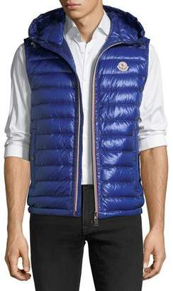 Moncler Hooded Quilted Down Gilet