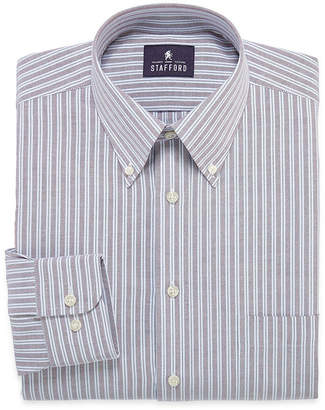 STAFFORD Stafford Long-Sleeve Travel Wrinkle-Free Oxford Dress Shirt