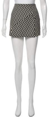 Neil Barrett Chevron Mini Skirt