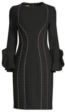 Michael Kors Studded Bell Sleeve Dress