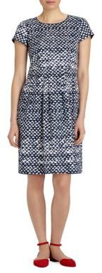 Lafayette 148 New York Gina Printed Stretch-Cotton Dress $398 thestylecure.com
