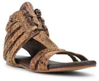 Roan Poppy Braided Strap Flat Sandal