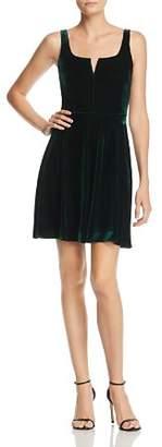 Aqua Notch Neck Velvet Dress - 100% Exclusive